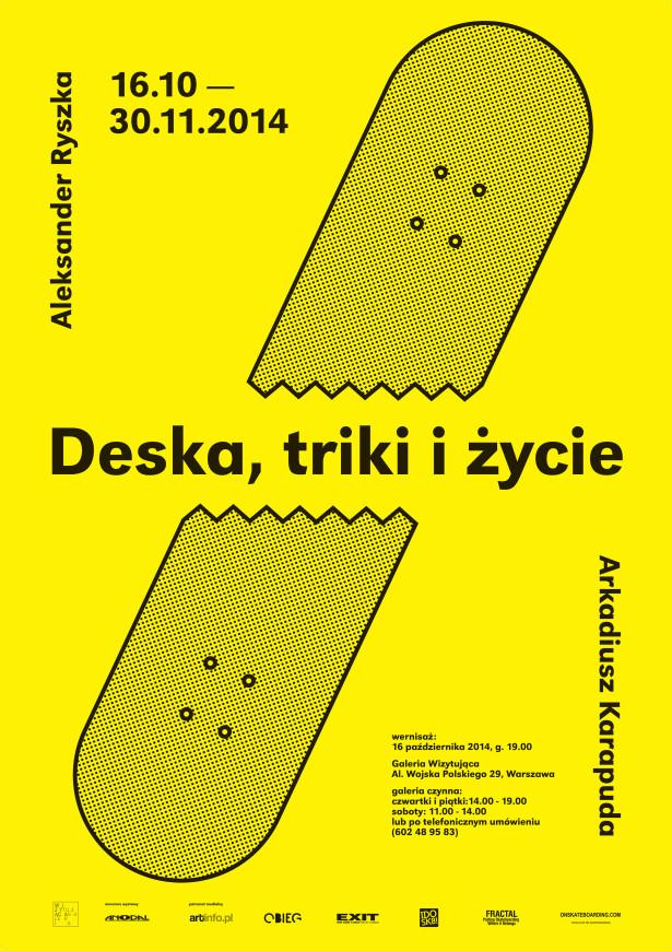 deska triki i życie - plakat net mały